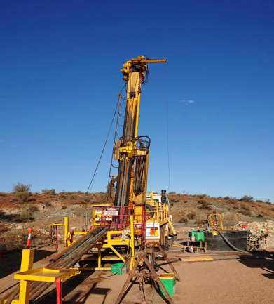 Drilling at Zinco Largo Prospect